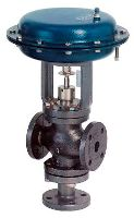 Spring & Diaphragm Actuator Operatd 3 Way Globe Valve Flanged End