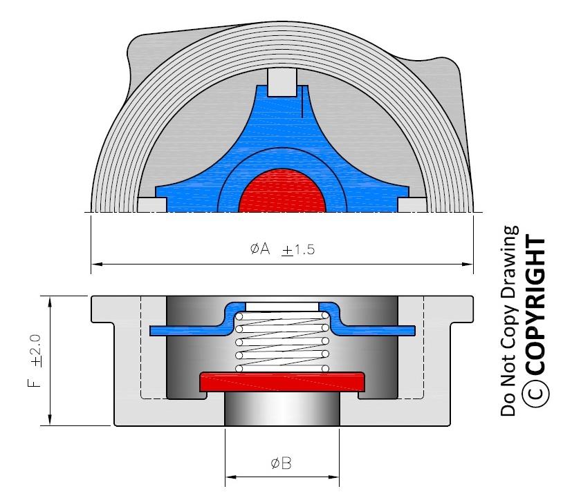 Disc Type Check Valve Drawing Dimensions Pressure Drop Line Diagram