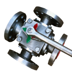 four way double L and X port ball valve flanged end manufacturer