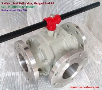 3 Way L Port Diverter Ball Valve, Manufacturer, Exporter, Importer, Stockist